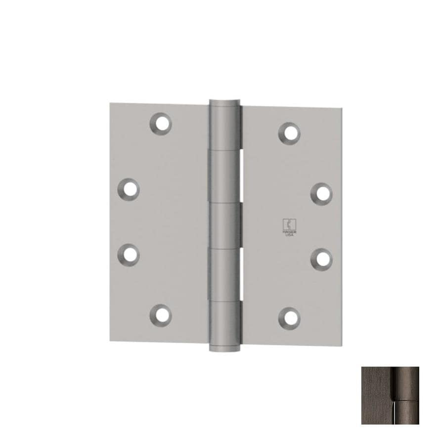 Hager 4.5000-in H Antique Nickel Radius Interior Mortise Door Hinge