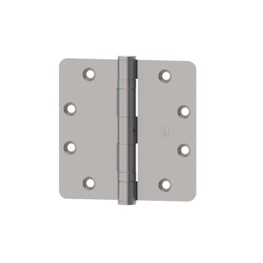 Hager 3.5-in H Satin Chrome 1/4-in Radius Interior Mortise Door Hinge