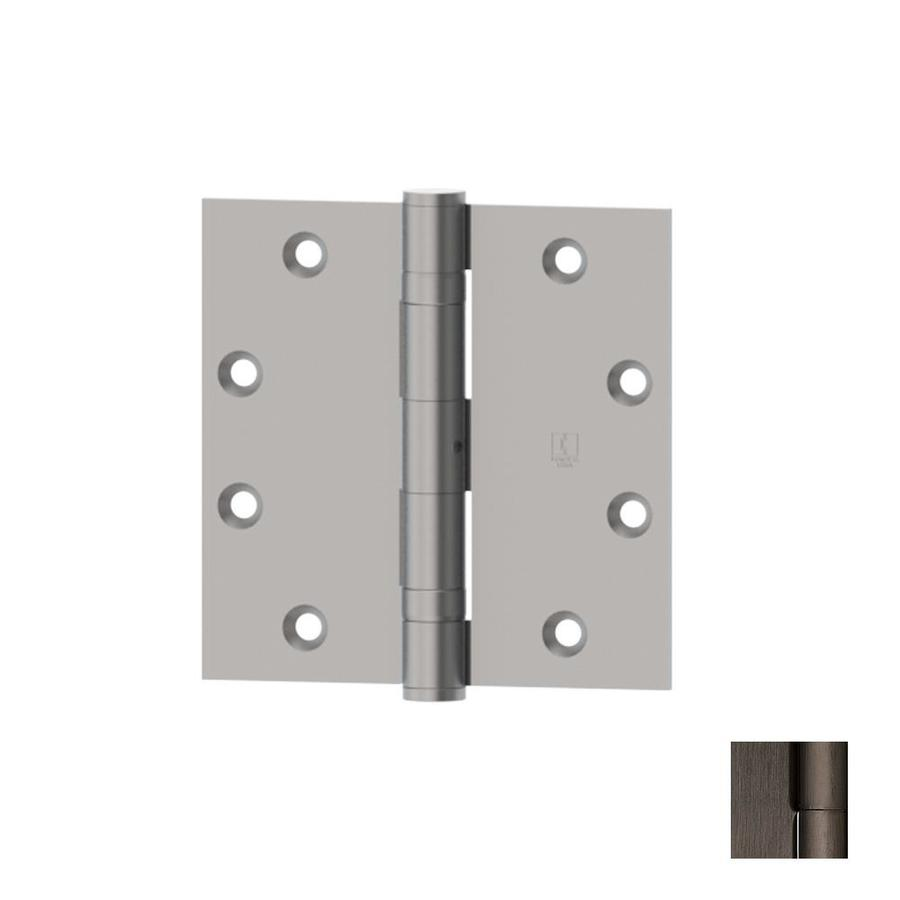 Hager 4-in H Antique Nickel Radius Interior Mortise Door Hinge