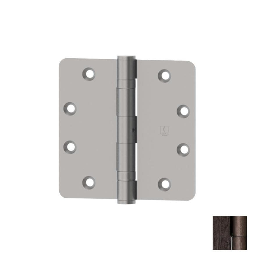 Hager 4-in H Antique Bronze 1/4-in Radius Interior Mortise Door Hinge