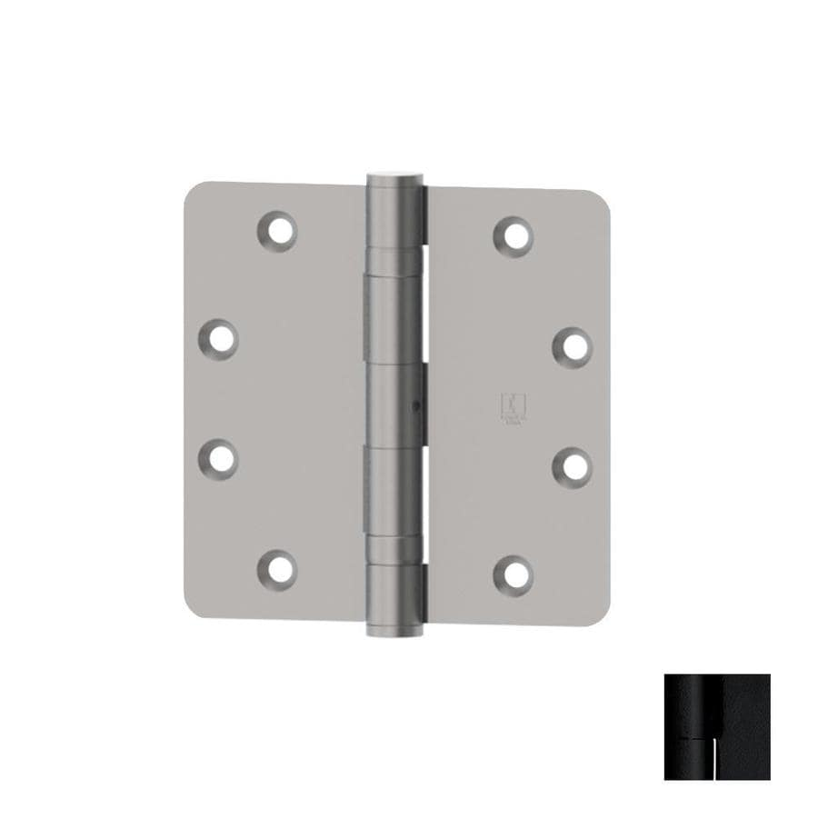 Hager 4-in H Flat Black 1/4-in Radius Interior Mortise Door Hinge