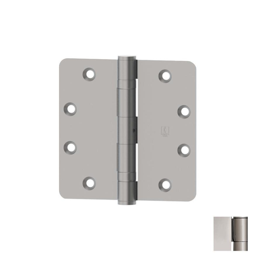 Hager 4.5-in H Polished Chrome 1/4-in Radius Interior Mortise Door Hinge