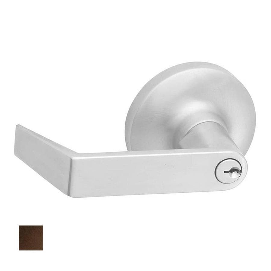 Hager 3400 Series Withnell Traditional Antique Bronze, Oiled Universal Keyed Entry Door Lever