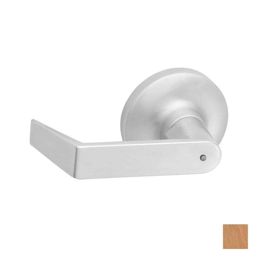 Hager 3400 Series Withnell Satin Bronze Universal Push-Button Lock Privacy Door Lever