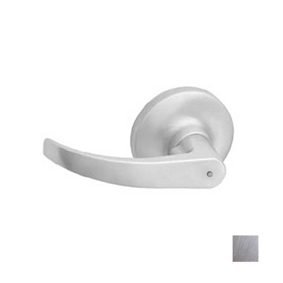 Hager 3400 Archer Satin Chrome Push-Button Lock Privacy Door Lever