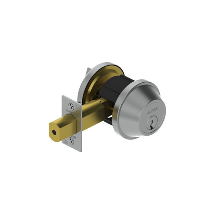 Hager 3200 Series Satin Stainless Steel Single-Cylinder Deadbolt