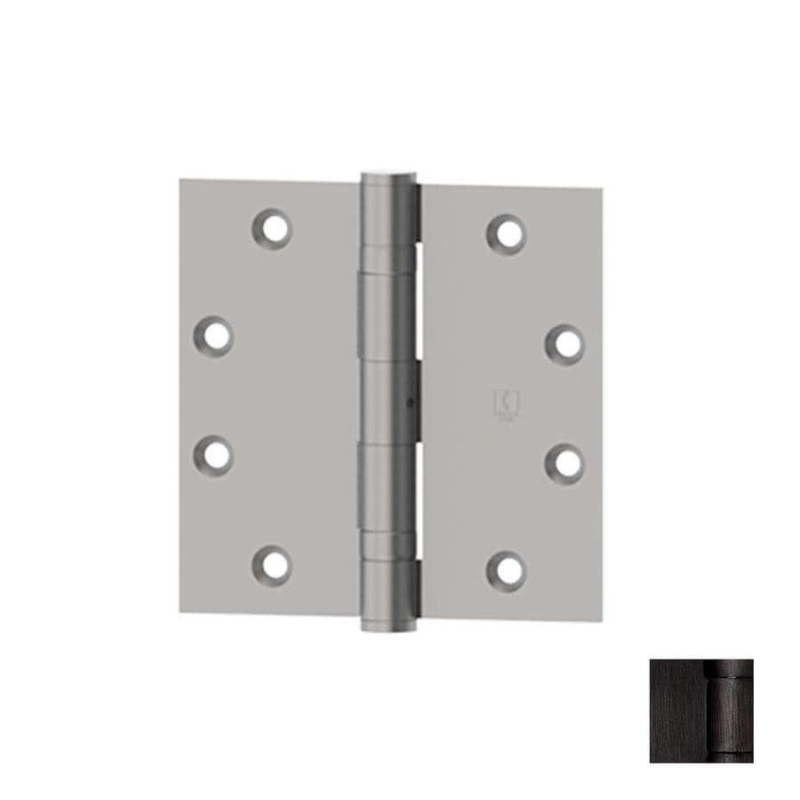 Hager 4-in H Oiled Black Nickel Radius Interior/Exterior Mortise Door Hinge