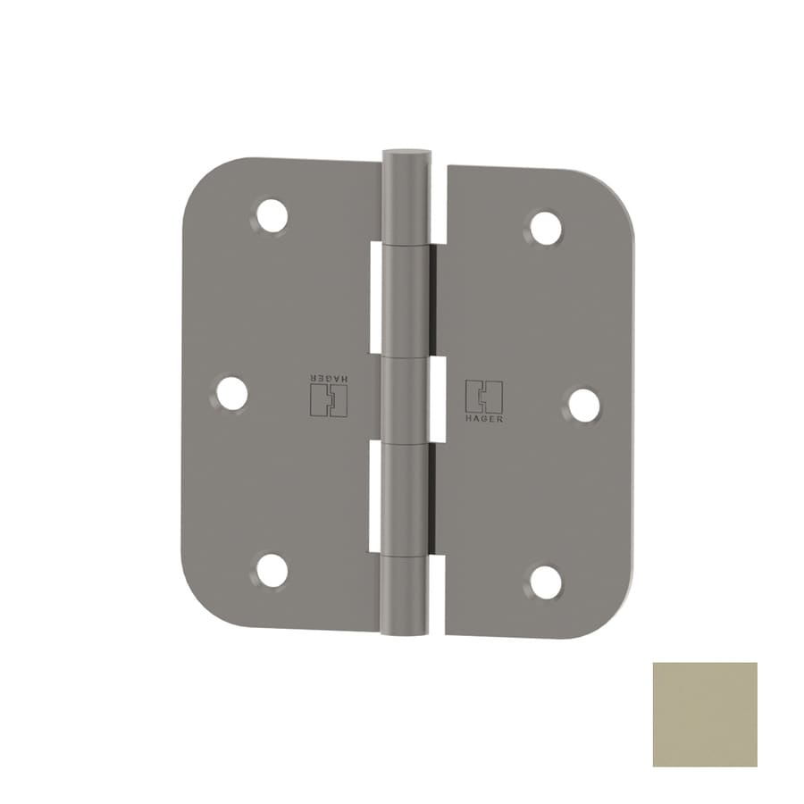 Hager 3.5-in H 5/8-in Radius Interior Mortise Door Hinge