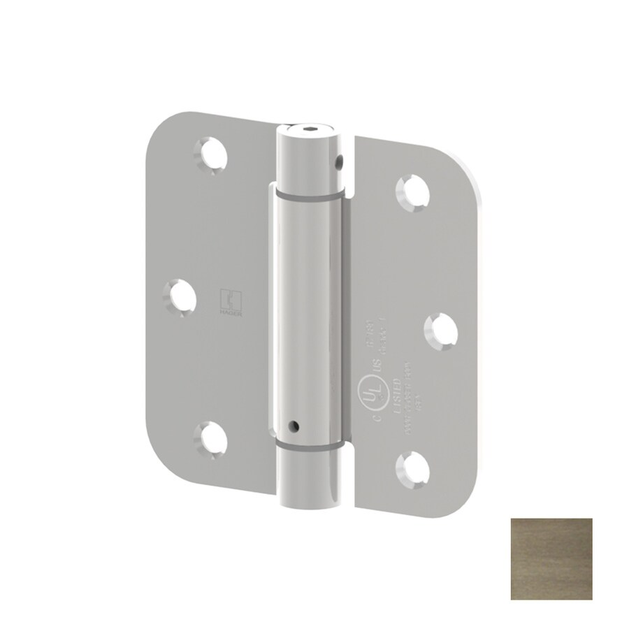 Hager 3.5000-in H Antique Nickel 5/8-in Radius Interior Mortise Door Hinge
