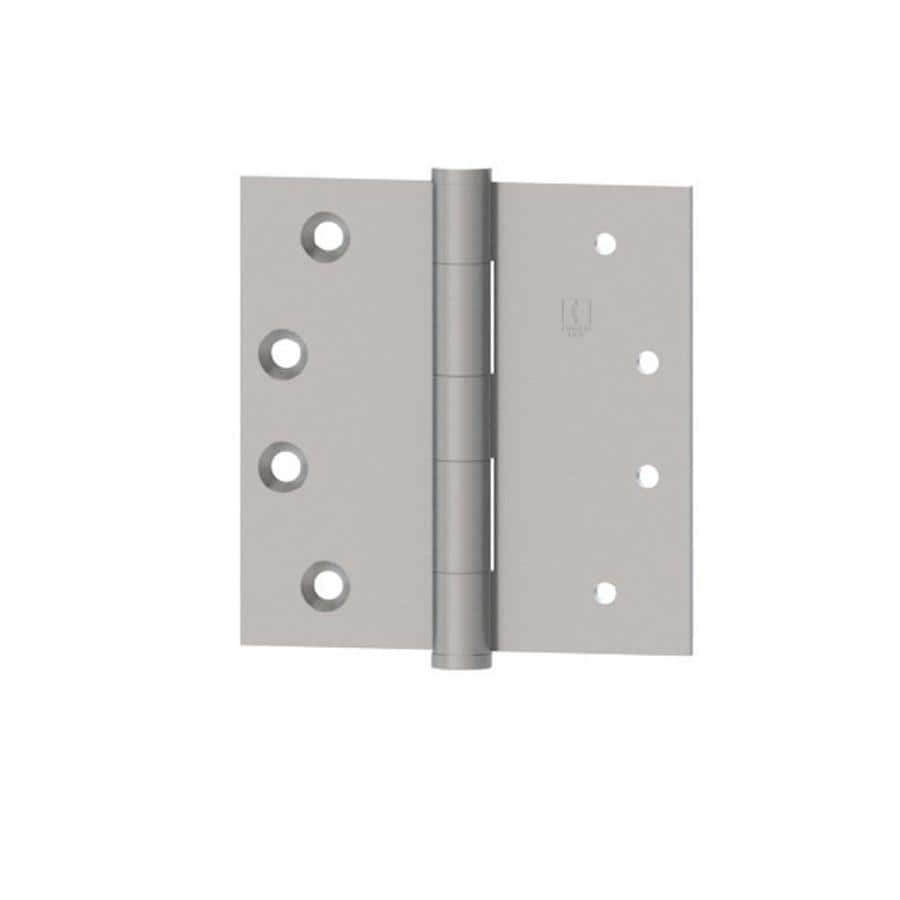 Hager 4-in H Satin Stainless Steel Radius Interior/Exterior Mortise Door Hinge