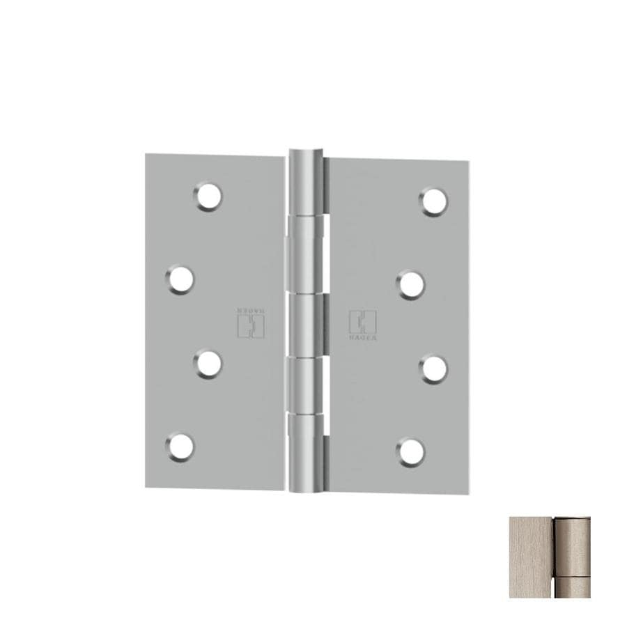 Hager 3.5-in H Satin Nickel Radius Interior Mortise Door Hinge