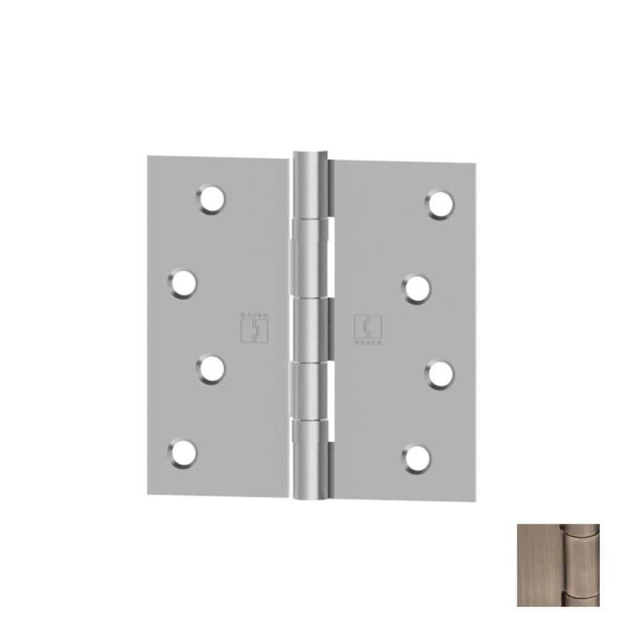 Hager Distressed Antique Nickel Door Hinge