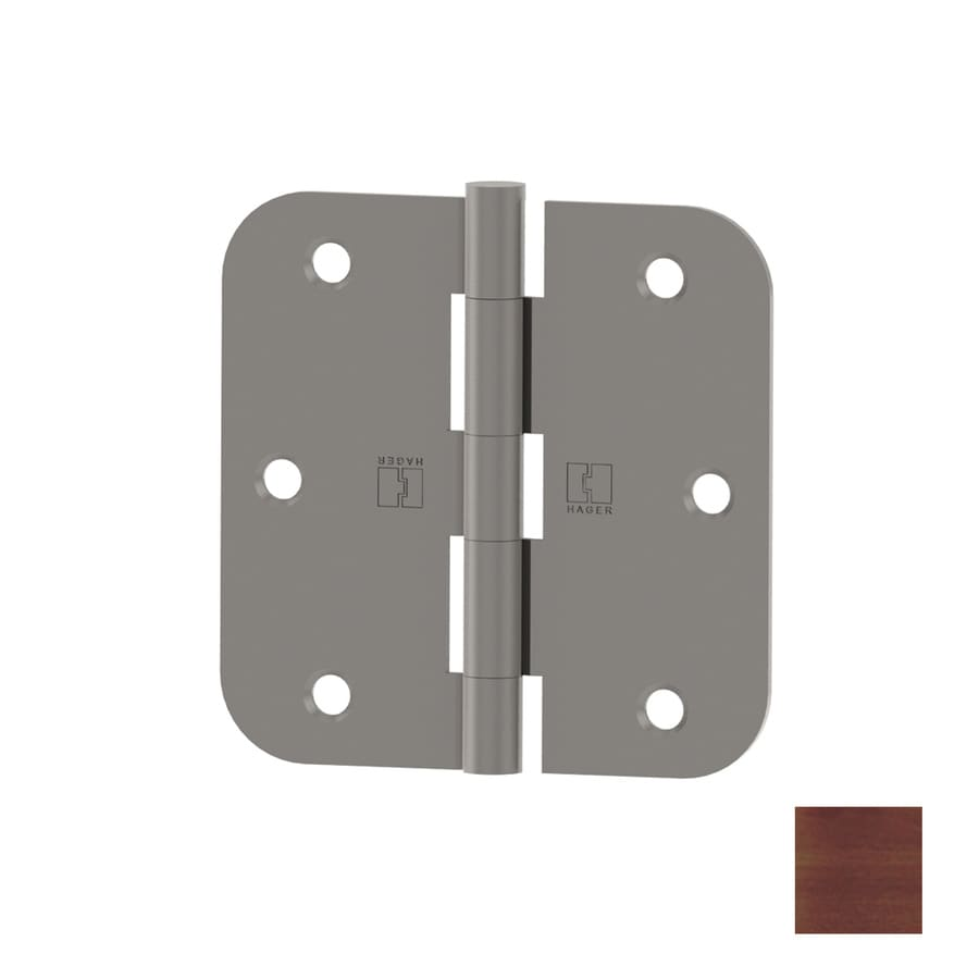 Hager 3.5-in H Antique Bronze 5/8-in Radius Interior Mortise Door Hinge