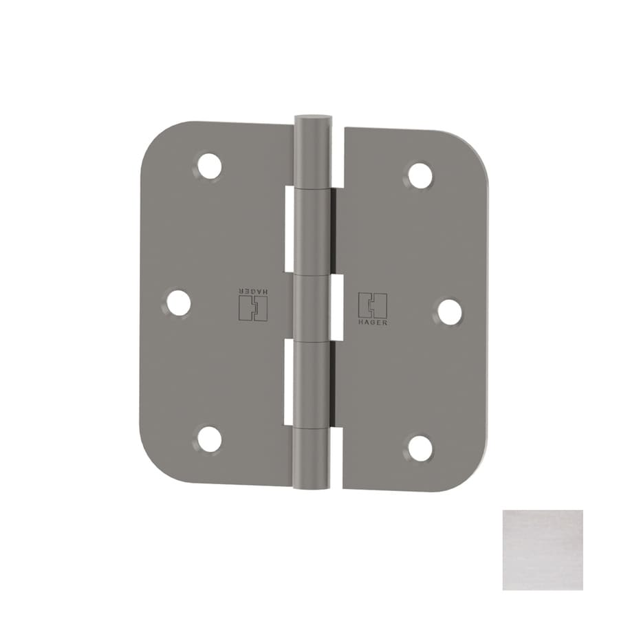 Hager 3.5-in H Polished Chrome 5/8-in Radius Interior Mortise Door Hinge