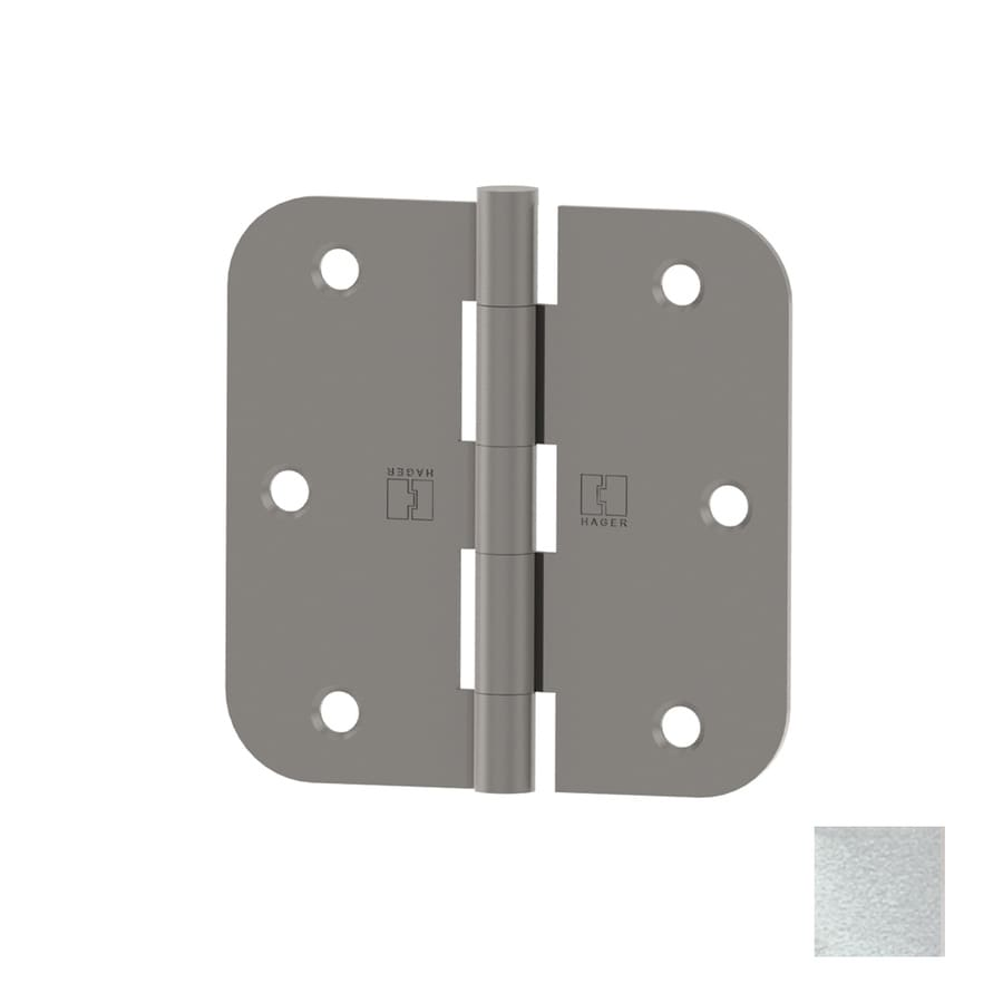 Hager 3.5-in H Satin Chrome 5/8-in Radius Interior Mortise Door Hinge