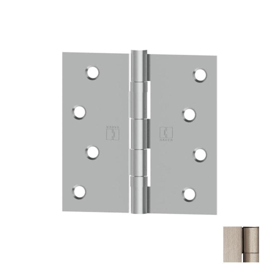 Hager 3.5-in H Satin Nickel Radius Interior/Exterior Mortise Door Hinge