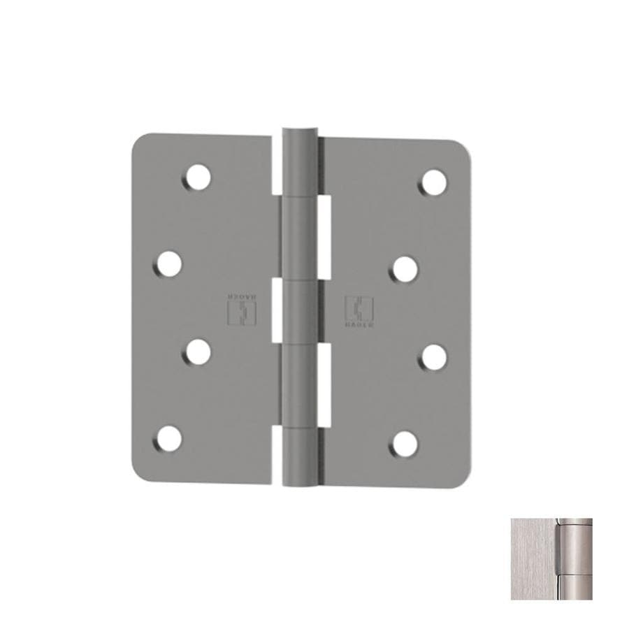 shop hager 4 in h satin stainless steel 1 4 in radius interior exterior mortise door hinge at