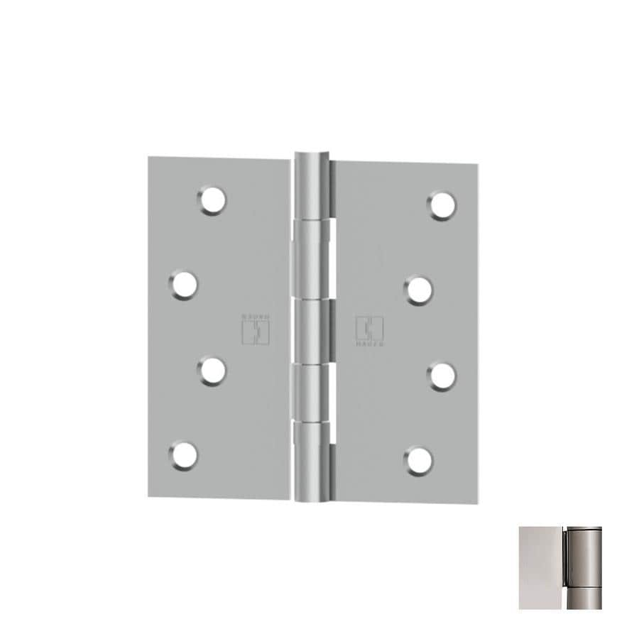 Hager 4-in H Polished Chrome Radius Interior Mortise Door Hinge