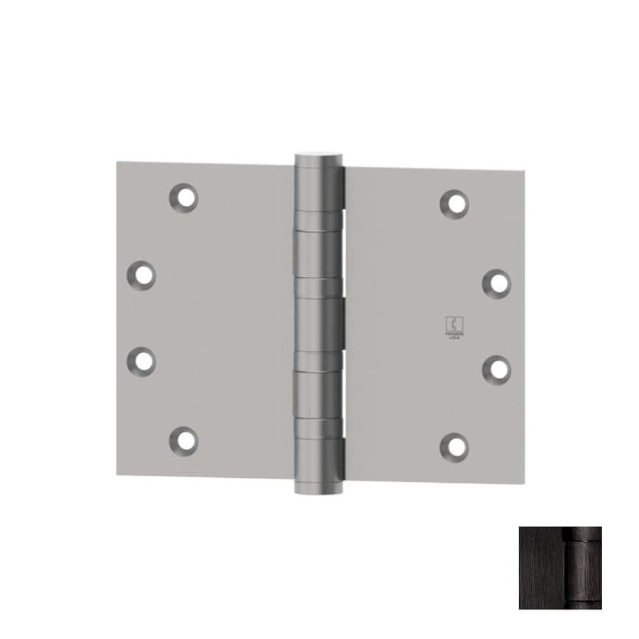 Hager 3.5-in H Oiled Black Nickel Radius Interior/Exterior Mortise Door Hinge