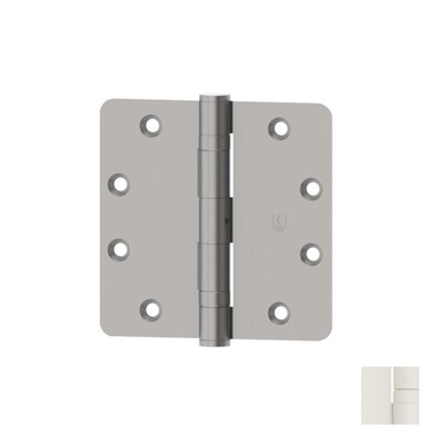 Hager 4 In White 1 4 In Radius Mortise Door Hinge At Lowes Com