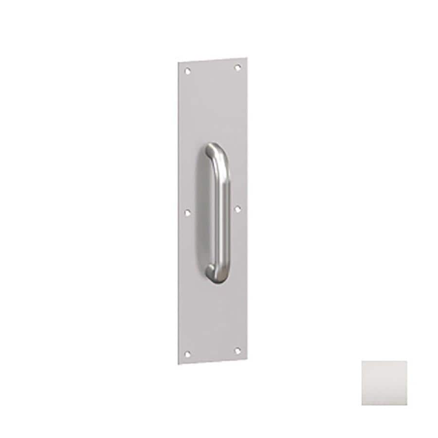 Hager 3.5-in x 15-in Satin Stainless Steel Entry Door Pull Plate
