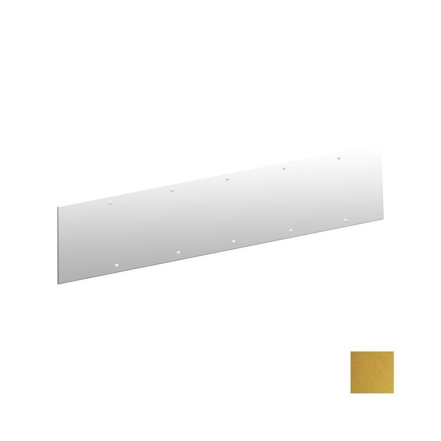 Hager 28 In X 6 In Polished Brass Entry Door Kick Plate At