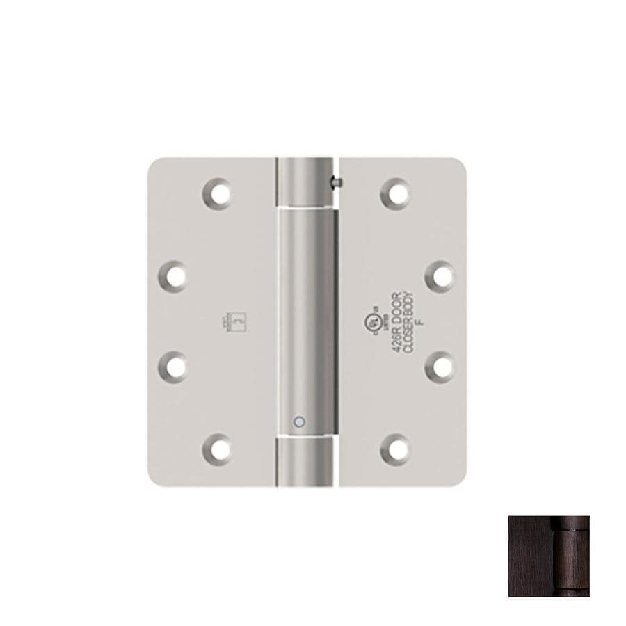 Hager 4-in H Oil-Rubbed Bronze 1/4-in Radius Interior Mortise Door Hinge