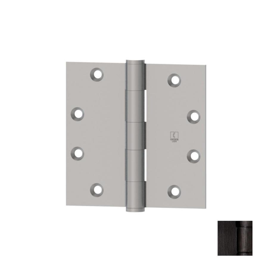 Hager 4.5-in H Oiled Black Nickel Radius Interior Mortise Door Hinge