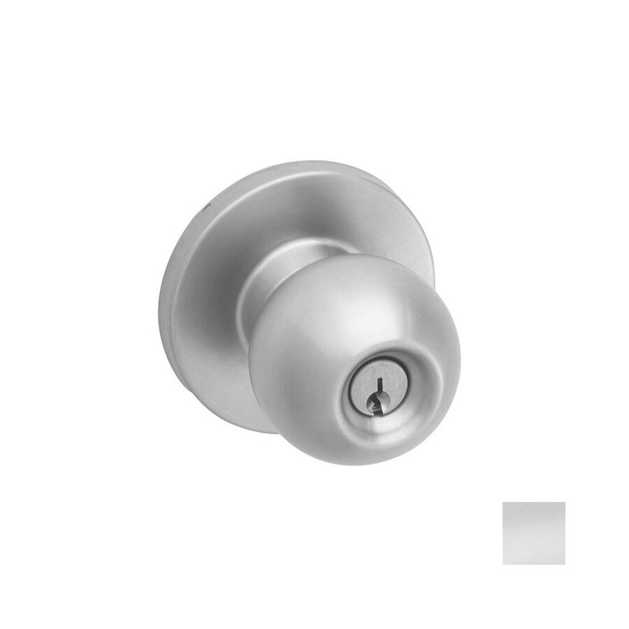 Shop Hager 3500 Apollo Satin Stainless Steel Keyed Entry Door Knob ...