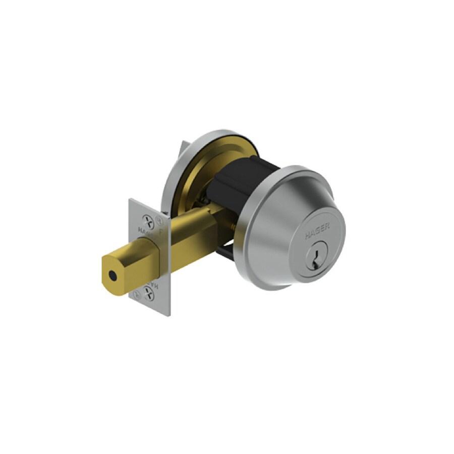 Hager 3200 Series Satin Chrome Single-Cylinder Deadbolt