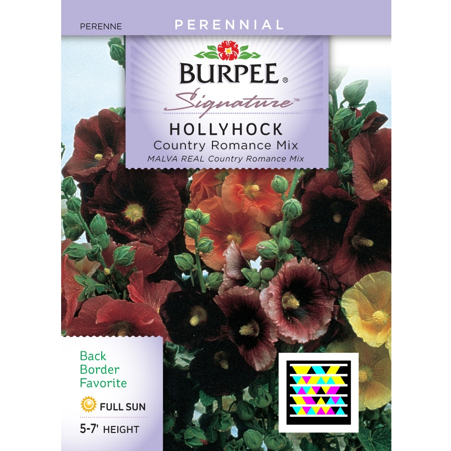 Burpee Hollyhock Flower Seed Packet