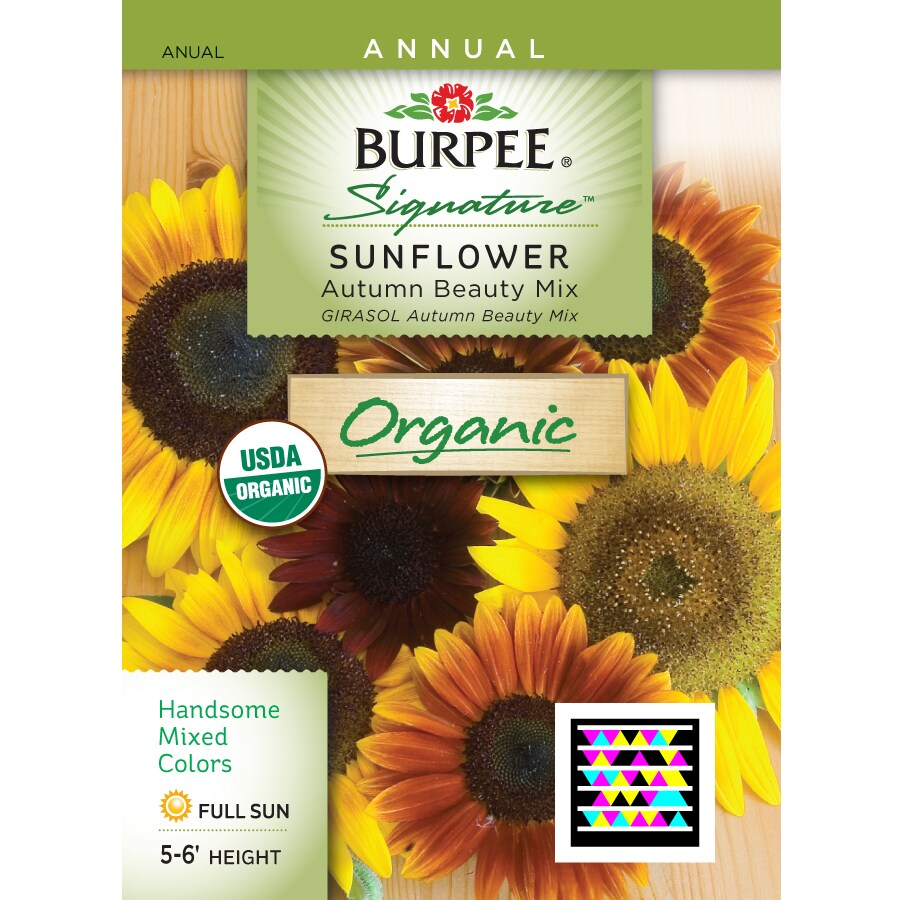 Burpee Sunflower Organic Flower Seed Packet