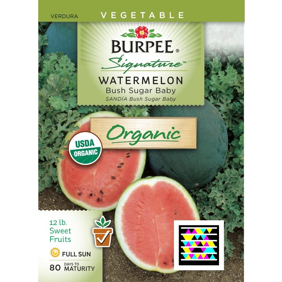 Burpee Watermelon Organic Vegetable Seed Packet