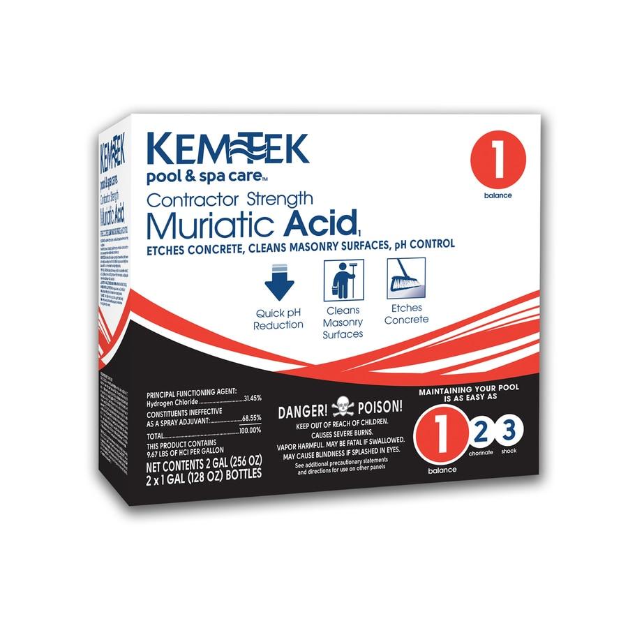 Kem-Tek 2-Gallon Muriatic Acid