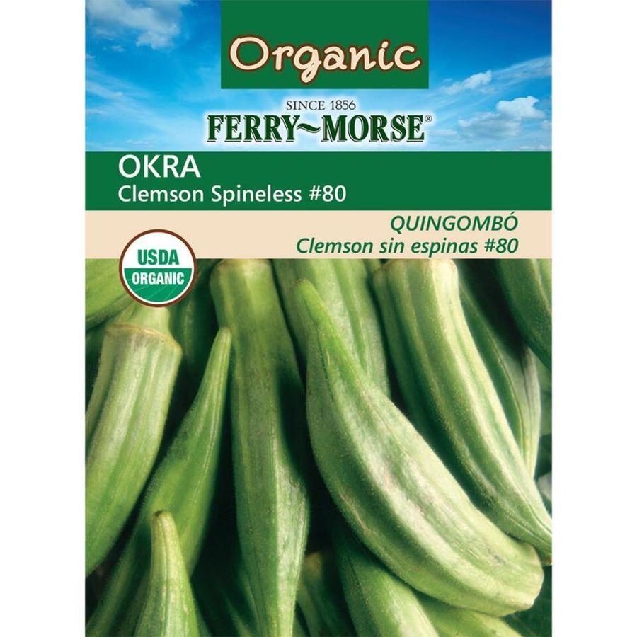 Ferry-Morse Organic Okra Clemson Spineless #80