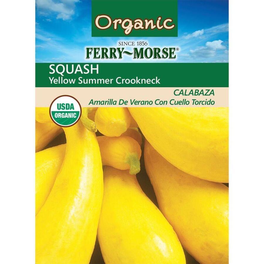 Ferry-Morse 5.2 Gram(S) Organic Squash Yellow Summer Crookneck (L0000)