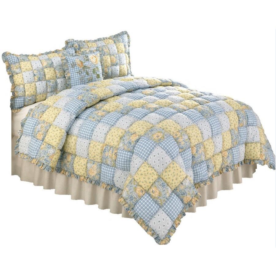Modern Heirloom Joan Puff 3-Piece Multi Full/Queen Quilt Set