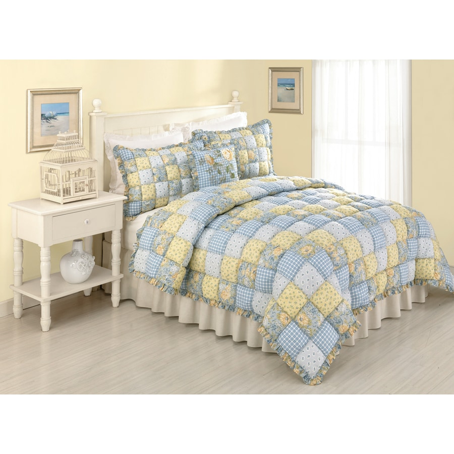 Modern Heirloom Joan Puff 3-Piece Multicolor King Quilt Set