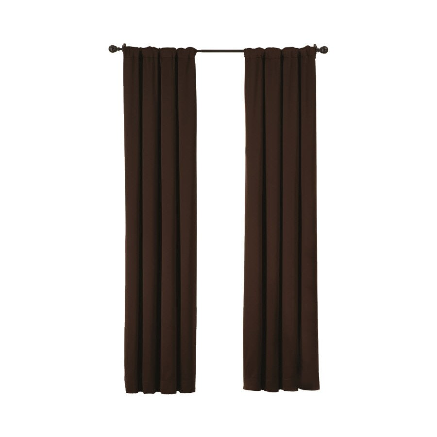 Ultimate Luxury Silk Allure 63-in Dark Chocolate Polyester Rod Pocket Single Curtain Panel