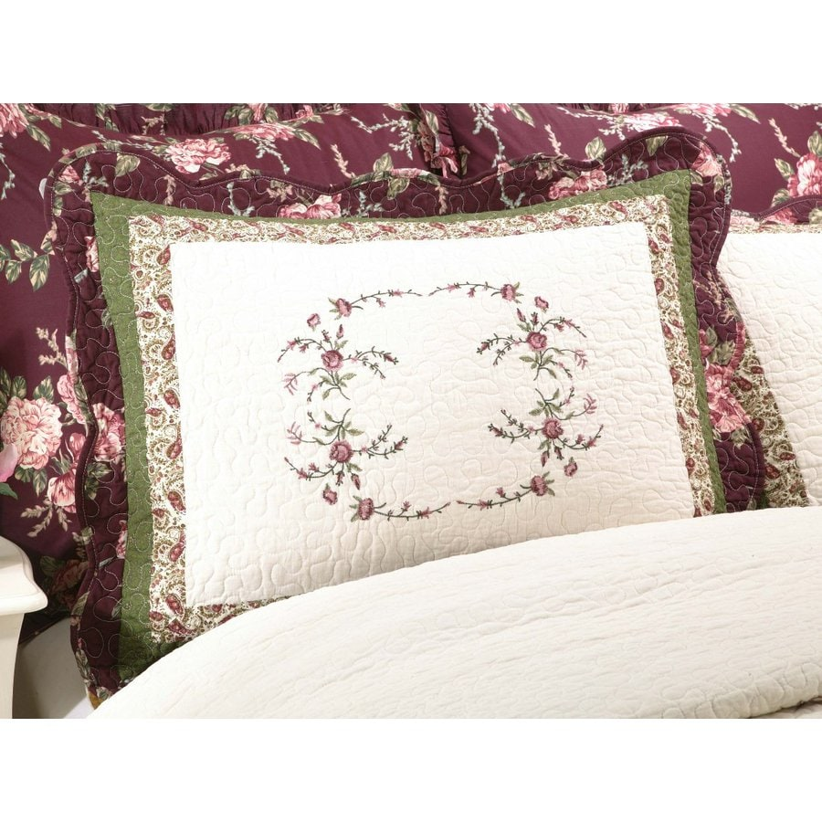 Modern Heirloom Brooke Embroidered 1-Piece Multicolor Full Sham