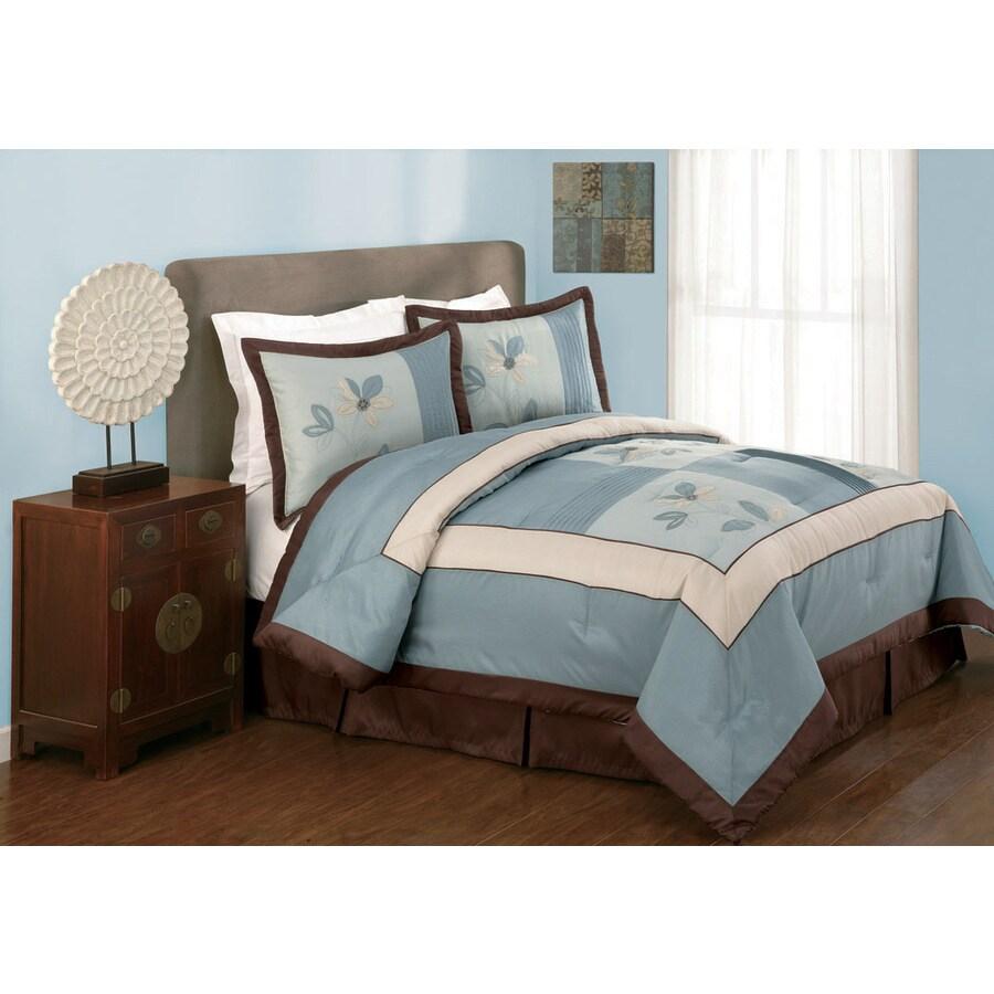 Modern Heirloom Samantha 4-Piece Blue Queen Comforter Set