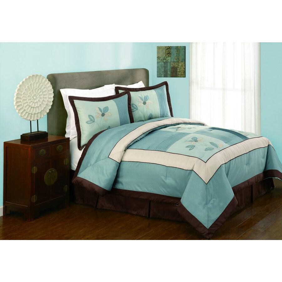 Modern Heirloom Samantha 4-Piece Blue King Comforter Set