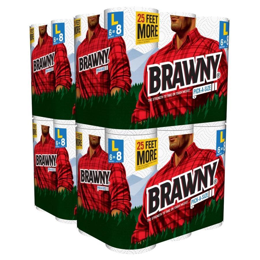 Brawny Brawny174 White Pas 2 Ply Paper Towel 24 Large Roll Box At
