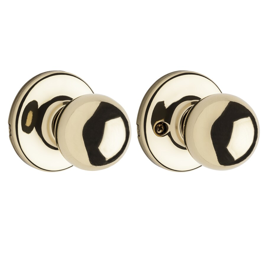 Kwikset Polo Polished Brass Round Passage Door Knob