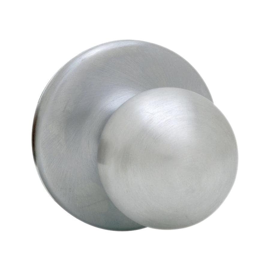 Kwikset Polo Satin Chrome Round Passage Door Knob
