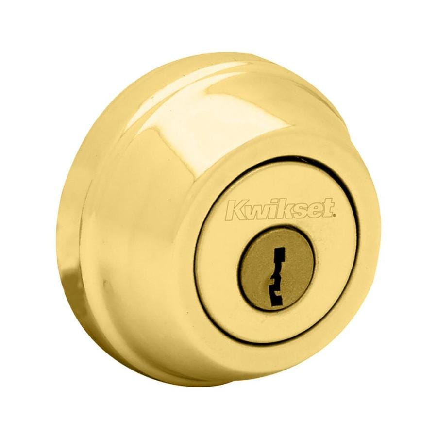 Kwikset Signature 780 Lifetime Polished Brass Single-Cylinder Deadbolt