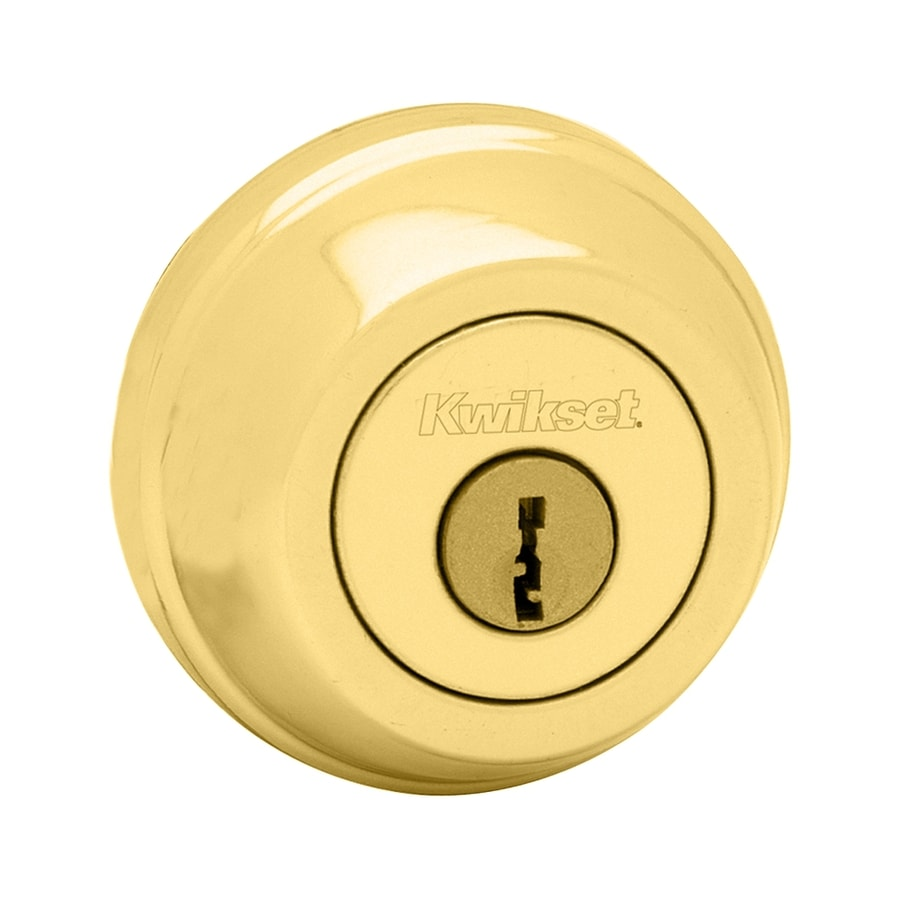 Kwikset Signature 785 Polished Brass Double-Cylinder Deadbolt