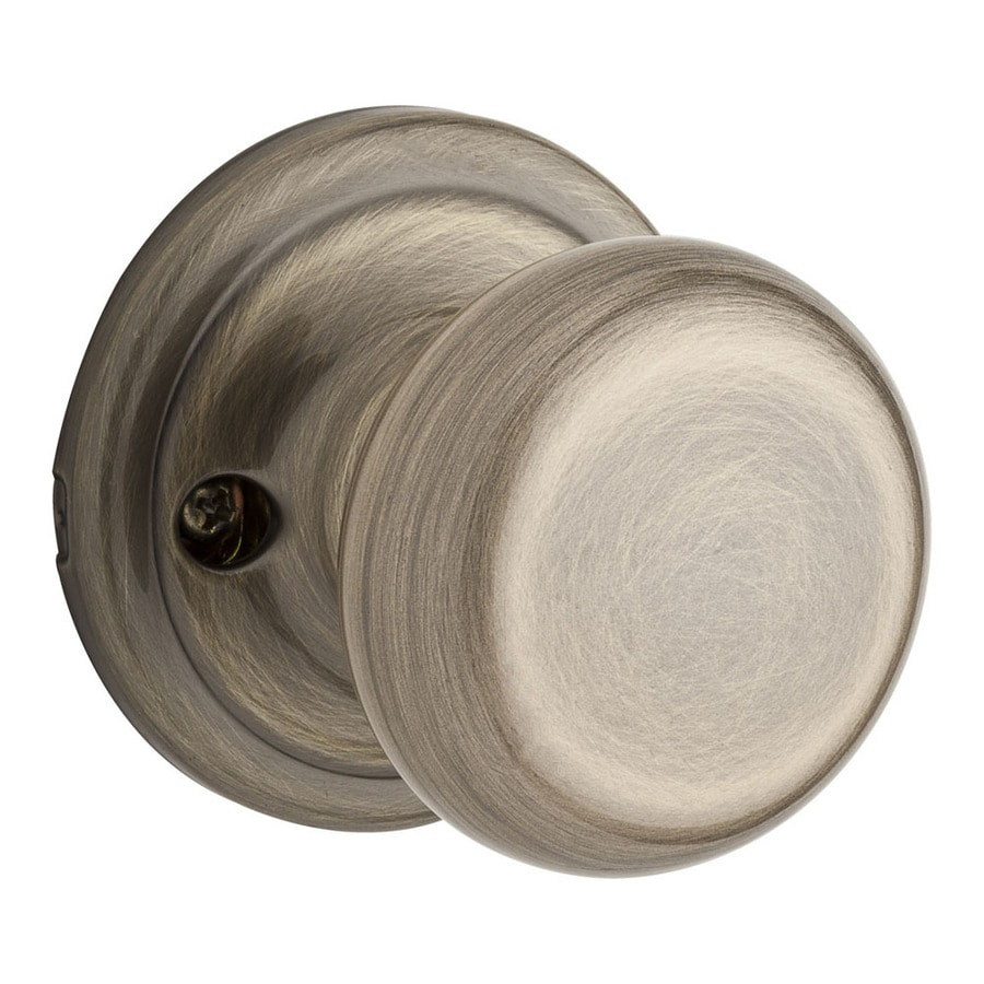 Kwikset Signature Hancock Antique Brass Dummy Door Knob