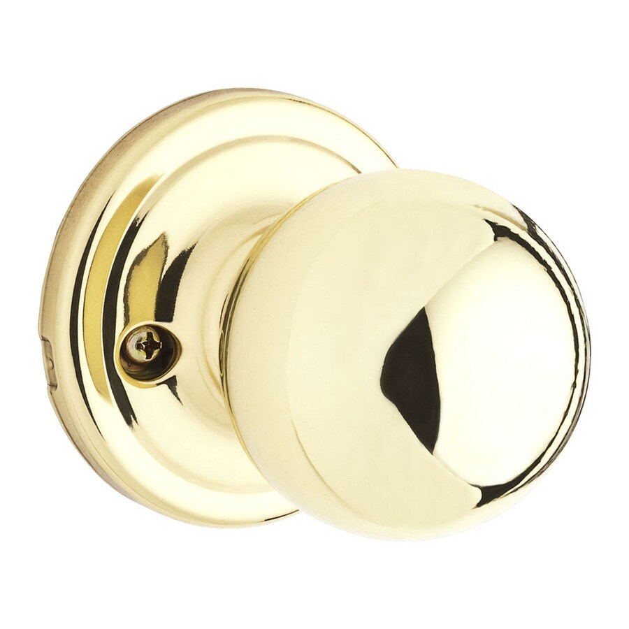 Kwikset Signature Circa Polished Brass Dummy Door Knob
