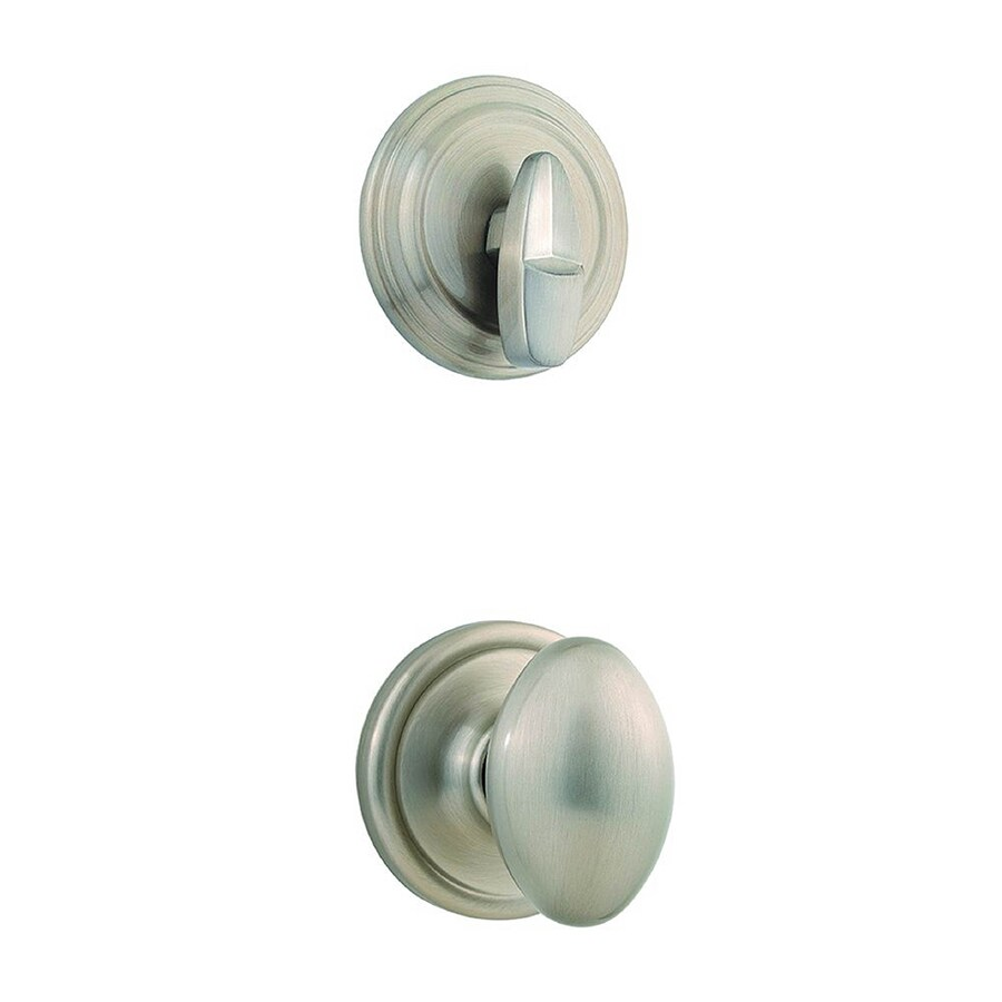 Kwikset Laurel 1-3/4-in Satin Nickel Single Cylinder Knob Entry Door Interior Handle